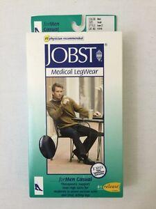 JOBST 113116 Men 20-30 mmHg Firm Casual Knee High Support Socks - Black / Small