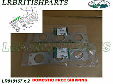 GENUINE LAND ROVER EXHAUST MANIFOLD GASKET LR2 3.2L SET OF 2 OEM NEW LR018167