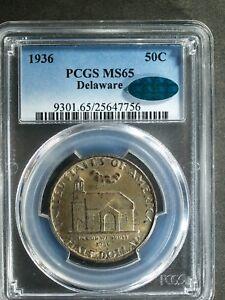 1936 Delaware Commemorative Silver Half $  MS65 (PCGS, Green CAC)  stk#7756