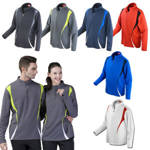 Reflektoren unisex Cool-Dry 1//4 Zip Shirt SPIRO Trial Training Top