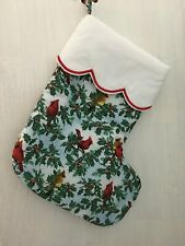 Christmas Quilt like Stocking Red Cardinal stocking NEW large