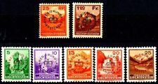 Liechtenstein 1933 -1936 Official Stamps Set 7 MH Scott's O9 to O15