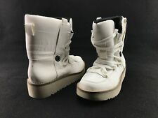 Calvin Klein Tyler Women's White Tie Up Ankle Winter Boots US Size 5M #A473
