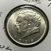 1928 AUSTRIA SILVER 2 SCHILLINGS  BRILLIANT UNCIRCULATED COIN