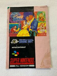 Disneys Beauty And The Beast INSTRUCTION MANUAL BOOKLET  Super Nintendo Snes