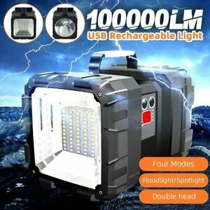 Portable LED Super Bright Searchlight Handheld Spotlight Flashlight Rechargeable