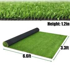 Fake Grass Artificial Landscape Pet Turf Synthetic Lawn Mat Green Rug 3.3 x 6.6