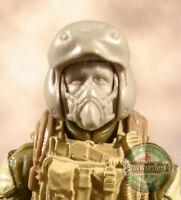 "MH299 Custom Cast male head use w//3.75/"" 1:18 HALO GI Joe Star Wars Acid Rain"