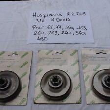 3 PIGNONS POUR TRONCONNEUSE HUSQVARNA 65, 77, 160, 163, 260 etc.          ref 57