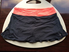 Lululemon wet dry warm skirt gray electric coral flare size 8