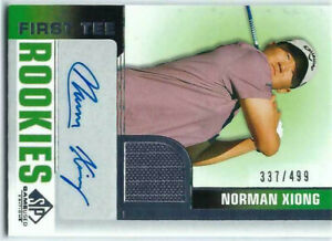 NORMAN XIONG 2021 UD SP GAME USED GOLF /499 AUTO SHIRT RC ROOKIES