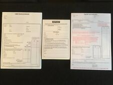 USED CAR VEHICLE SALES INVOICE PAD AND TRADE PAD AND DEPOSIT PAD BUYING SELLING