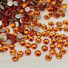 Swarovski Crystals Glue on 100 X Ss20 Tangerine Orange Diamanté Rhinestones Gems