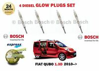 FOR FIAT QUBO 225 1.3D MULTIJET 75BHP 95BHP 2010-> DIESEL GLOW PLUGS SET (4)