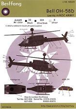 Bestfong Decals 1/48 BELL OH-58D KIOWA Low Viz Chinese Air Force