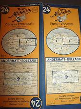 Carte michelin 24 andermatt bolzano 1951