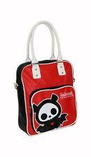 Skelanimals Diego Bat Skeleton Red PVC Gothic Shoulder Strap & Top Handle Bag