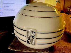 Vintage Deco Milk Glass Lamp Shade, WOW