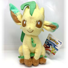 Pokemon Tomy Leafeon XY Eevee Plush Stuffed Animal Toy NWT + Free Card!