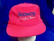 Indianapolis Indy 500 SCOTT BRAYTON Hot Pink 1990s AMWAY RACING Hat New!