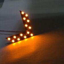 2x 14SMD LED Arrow Panel Car Rear View Mirror Indicator Turn Signal Light Yellow
