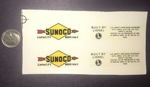 Lionel #2465 Sunoco Black Arrows W/ Letters Tank Car  PRE-TRIMMED Water Decals