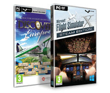 Microsoft Flight Simulator X Deluxe & Acceleration & Discover Europe, FSX Steam