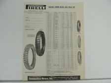 1958? Pirelli Motorcylce Tire Dealers Order Blank And Price List L1284