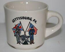 GETTYSBURG PA.1863 CIVIL WAR SOUTH & NORTH CROSSED FLAGS COFFEE MUG