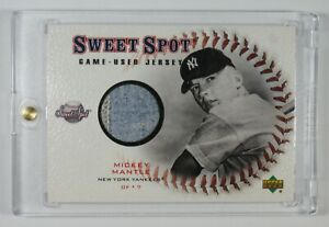 2001 Mickey Mantle Yankees #J-MM Upper Deck Game Used Jersey Card