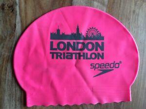 Speedo London Triathlon Swimming Cap Hat - One Size - Pink
