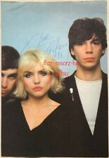 DEBBIE HARRY Rock Singer Signed Signature Autograph Magazine Photograph Page