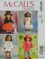 """McCall's 7031 PATTERN for 18"""" American Girl DOLL CLOTHES Doctor Nurse Magician +"""