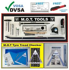 MOT SIGNS | MOT SIGN | VOSA DVSA | MOT 9 TOOLS BOARD CURVED BAR TYRE TREAD GAUGE