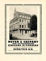 Getreide Meyer & Caspary Stargard & Bernstein XL Reklame 1924 Pelczyce Pommern +