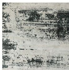 Multi Grey Erase Abstract Modern 100% Afghan Wool Hand Knotted Area Rugs
