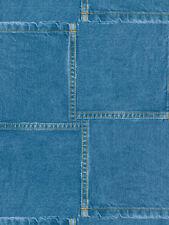 Dark Denim Pockets Overlapping Sure Strip Wallpaper BZ9208