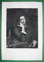 ORIGINAL ETCHING Print by Courbet - Man with Leather Belt