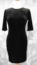BNWT Balck Velour Body Con Dress with Low back size 10 From Dare to Bare