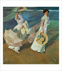 Sorolla - Walk on the Beach 1909 fine art giclee print poster various sizes