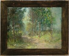Listed American Artist Hal Robinson (1875-1933) Signed Pastel On Canvas Painting