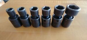 "MAC Tools 3/8"" Drive 6 Pc Metric 6 Pt Swivel Impact Socket Set. 10-13, 15, 18mm"