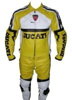 DUCATI MOTORBIKE COWHIDE LEATHER ARMOURED CE PROTECTORS MOTORCYCLE 2 PIECE SUIT