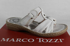 Marco Tozzi Ladies Mules Sandals Real Leather White New