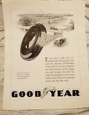 Good Year Tyres OR White Star Atlantic Services - 1929 Advertisement