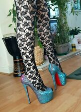 Christian Louboutin higness 160 lame sparkly shoes size 5.5 / 38.5