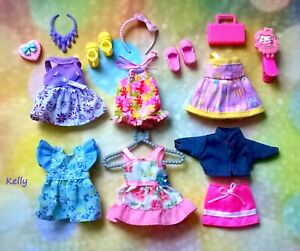 🍃🍃🍃Lot of Barbie Kelly doll clothes,accessories plus shoes#B 🍇🍇🍇
