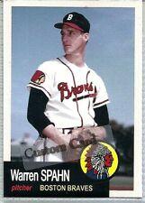 WARREN SPAHN BOSTON BRAVES 1953 STYLE CUSTOM MADE BASEBALL CARD BLANK BACK