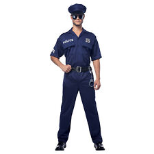 Adult Mens PLUS SIZE Police Officer Cop Halloween Costume Hat Badge Handcuffs