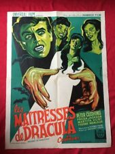 THE BRIDES OF DRACULA ORIGINAL RR 60'S FRENCH CINEMA POSTER HAMMER